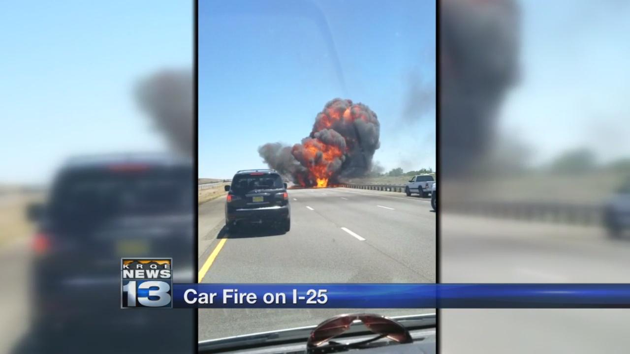 Crews contain car fire, small brush fire along I-25_1529554525723.jpg.jpg