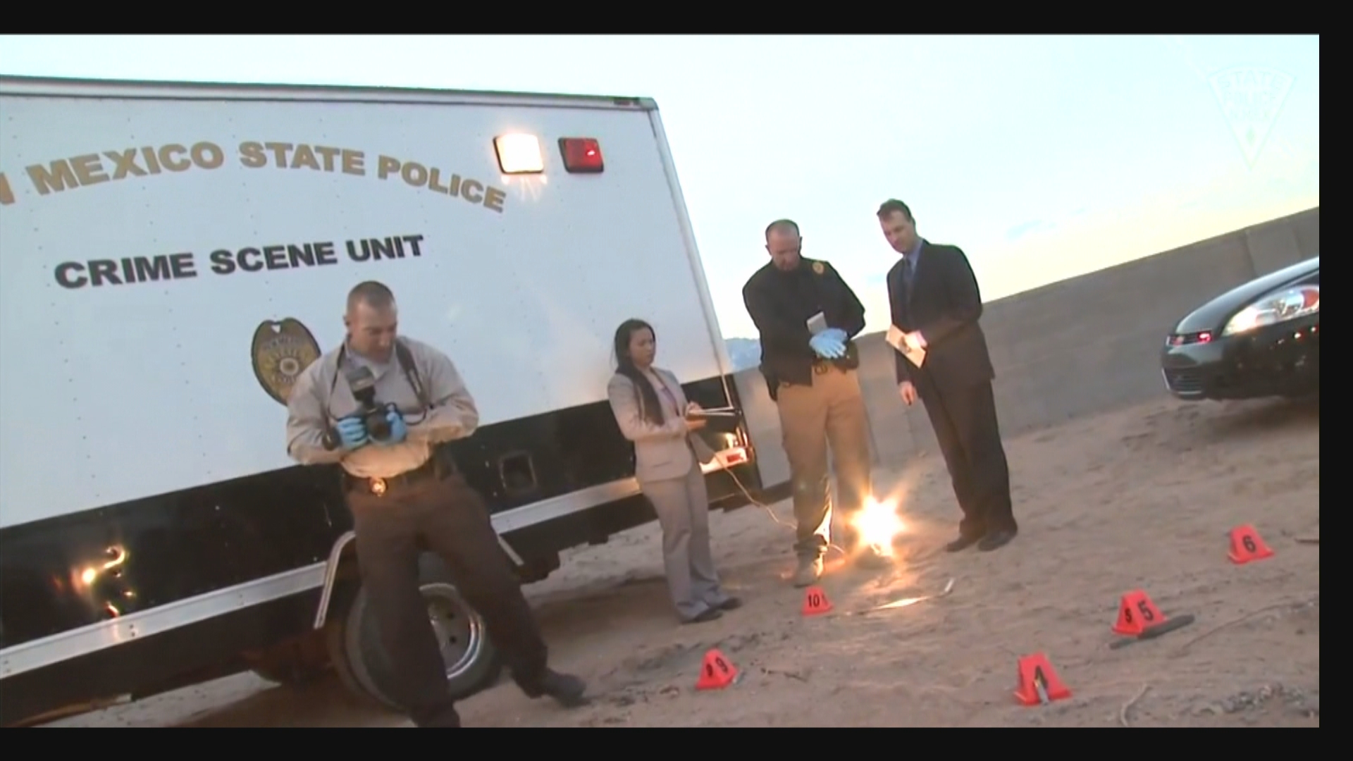 New Mexico State Police recruiting officers