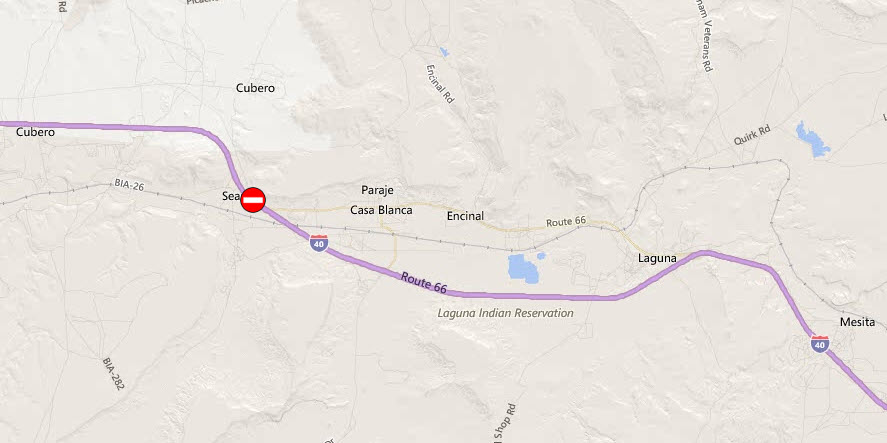 I-40 westbound reopened following crash west of Laguna Pueblo on