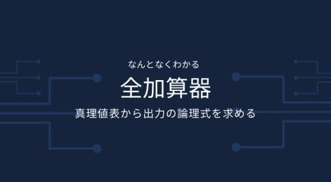 全加算器出力の論理式