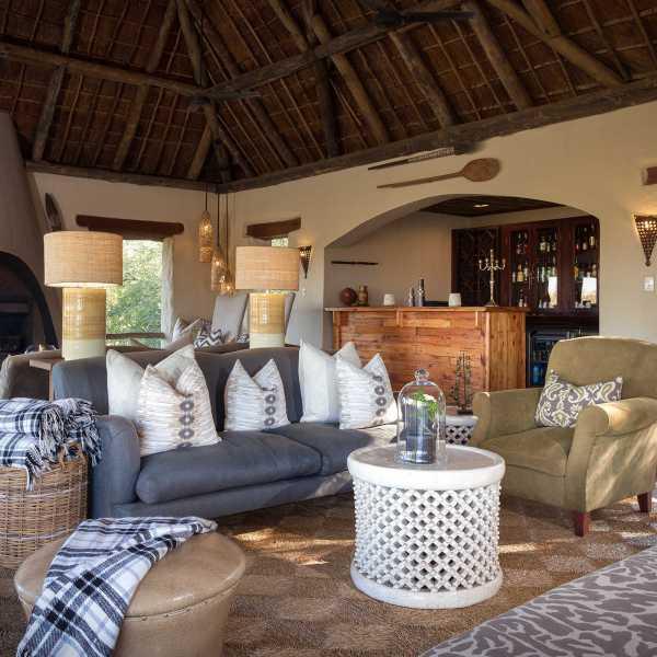 Simbambili Game Lodge Lounge Interior View