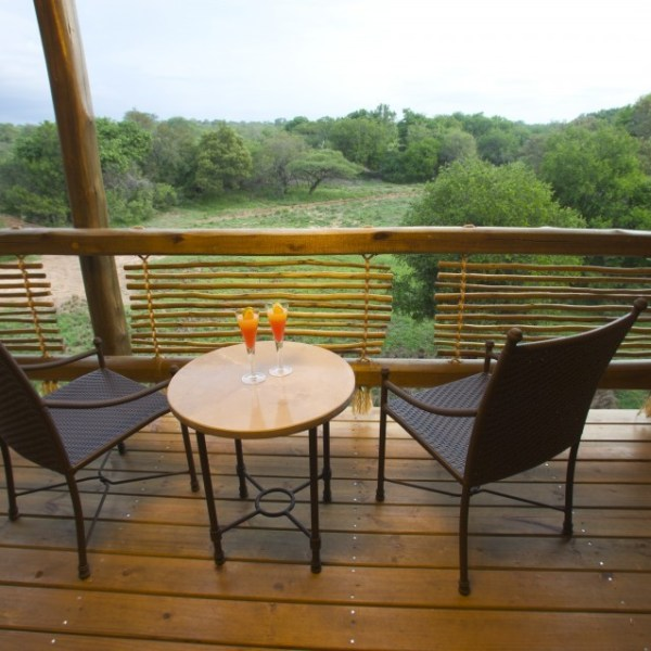 Kapama River Lodge Deck Area