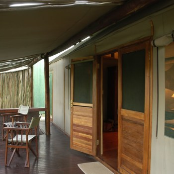 Chapungu Luxury Tented Camp View of Deck and Room