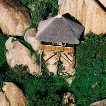 Manyatta Rock Camp Spa Aerial View