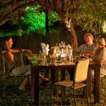 Monwana Game Lodge Garden Dinner