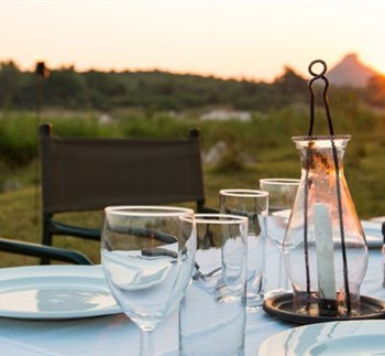 Sefapane River Lodge Outdoor Dining