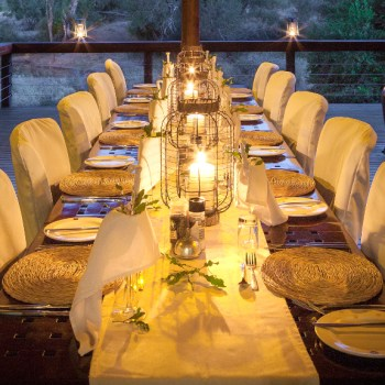 Serondella Game Lodge Dinner Setting