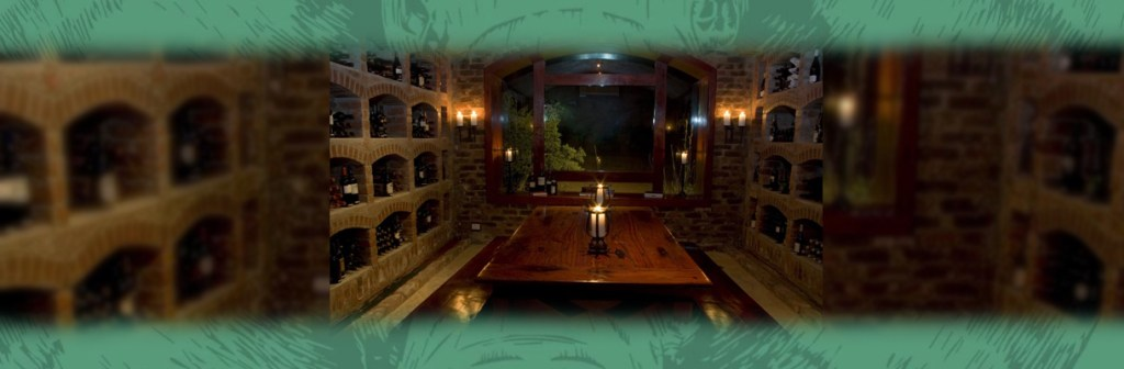 Shumbalala Game Lodge Wine Cellar View