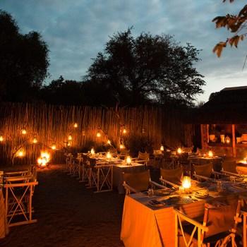 Thornybush Game Lodge Boma Dining