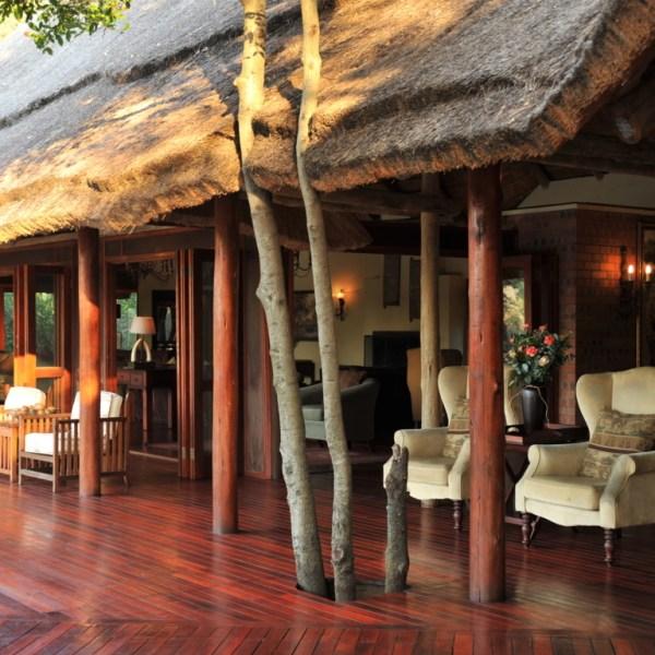 Imbali Safari Lodge Exterior Deck