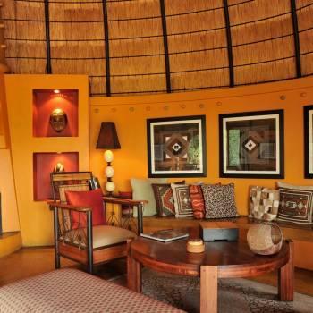 Hoyo Hoyo Safari Lodge Fireplace in the Lounge