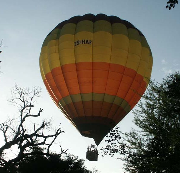 Chapungu Luxury Tented Camp Balloon Safari