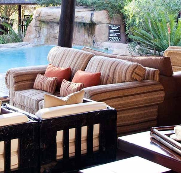 Chapungu Luxury Tented Camp Poolside Couches