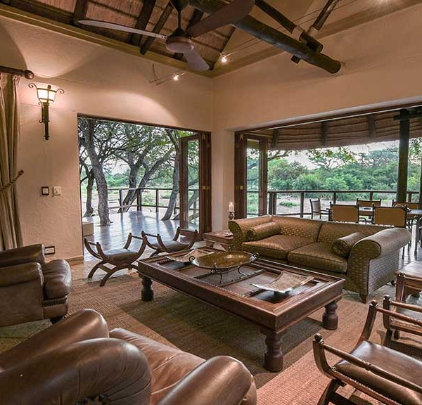 Shumbalala Game Lodge Presidential Suite Interior and Deck