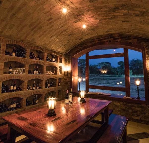 Shumbalala Game Lodge Wine Cellar Dinner