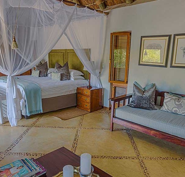 Thornybush Game Lodge Accommodation Family Suite Bedroom