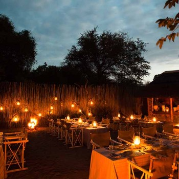 Thornybush Game Lodge Candle Lit Dinner