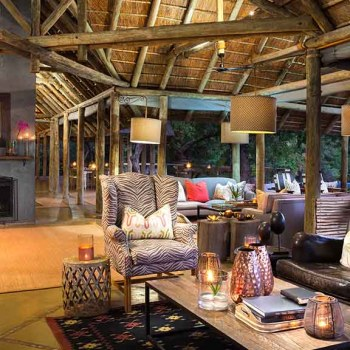 Thornybush Game Lodge Lounge Area