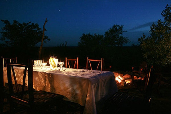 Kgoro Lodge Evening Dining