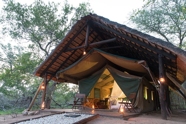 KwaMbili Game Lodge Safari Tent Exterior
