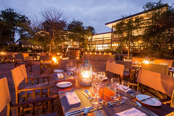Makalali Private Game Lodge Evening Dining