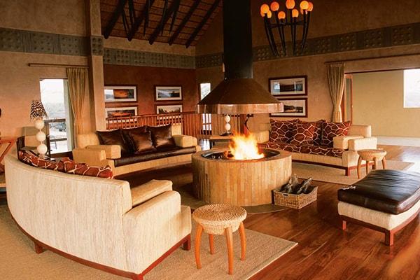 Makumu Luxury Safari Lodge Lounge
