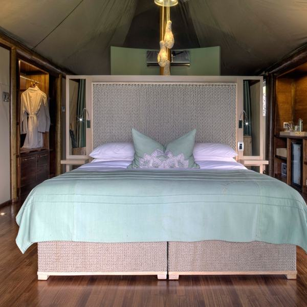 Ngala Tented Camp Guest Tent Bed