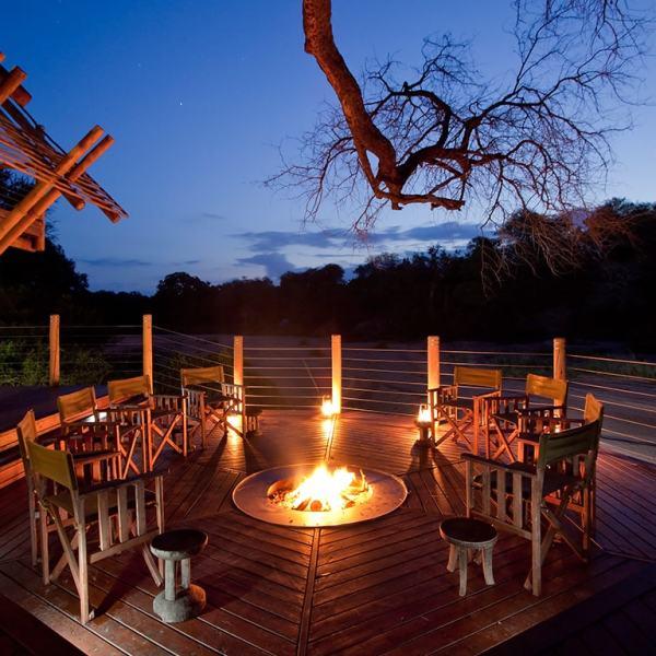 Rhino Post Safari Lodge Deck