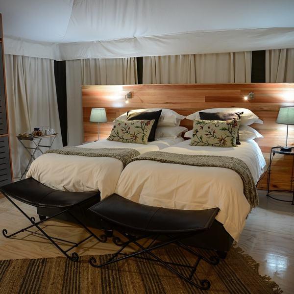 Simbavati Hilltop Lodge Luxury Safari Tent Twin Beds