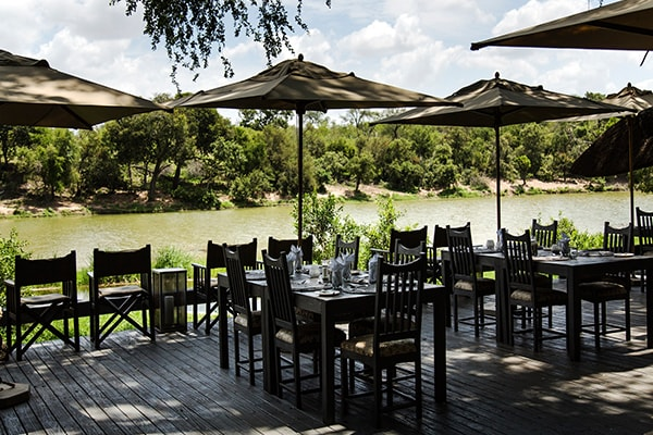 Simbavati River Lodge Dining Deck