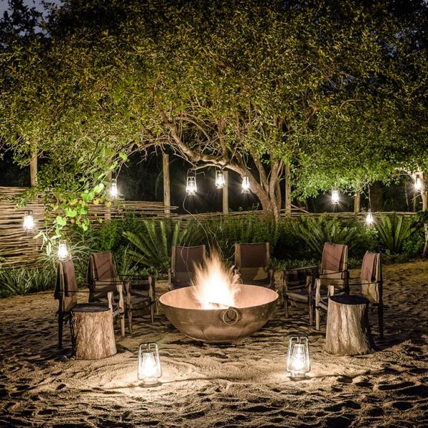 Singita Ebony Lodge Fire