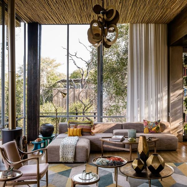Singita Sweni Lodge Accommodation Lounge