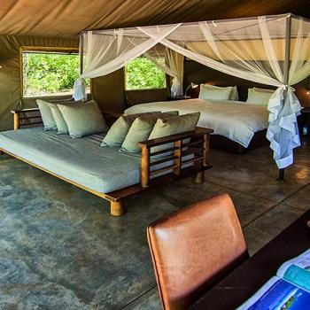 Honeyguide Khoka Moya Camp Spacious Tent Interior