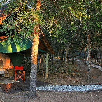 KwaMbili Game Lodge Accommodation Tent