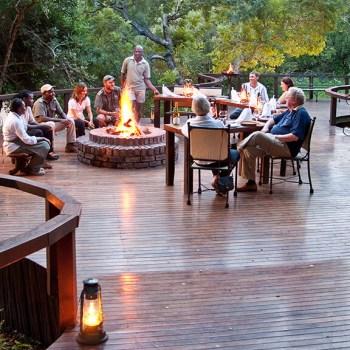Monwana Lodge Outdoor Fireplace