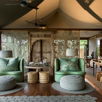 Ngala Tented Camp Suite Lounge