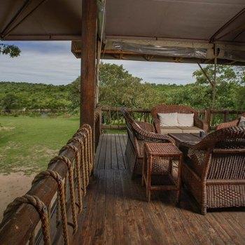 Nkambeni Safari Camp Lounge Bar Deck