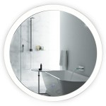 Sol Round 27 X 27 Led Bathroom Mirror W Dimmer Defogger Round Back Lit Vanity Mirror Krugg Reflections Usa