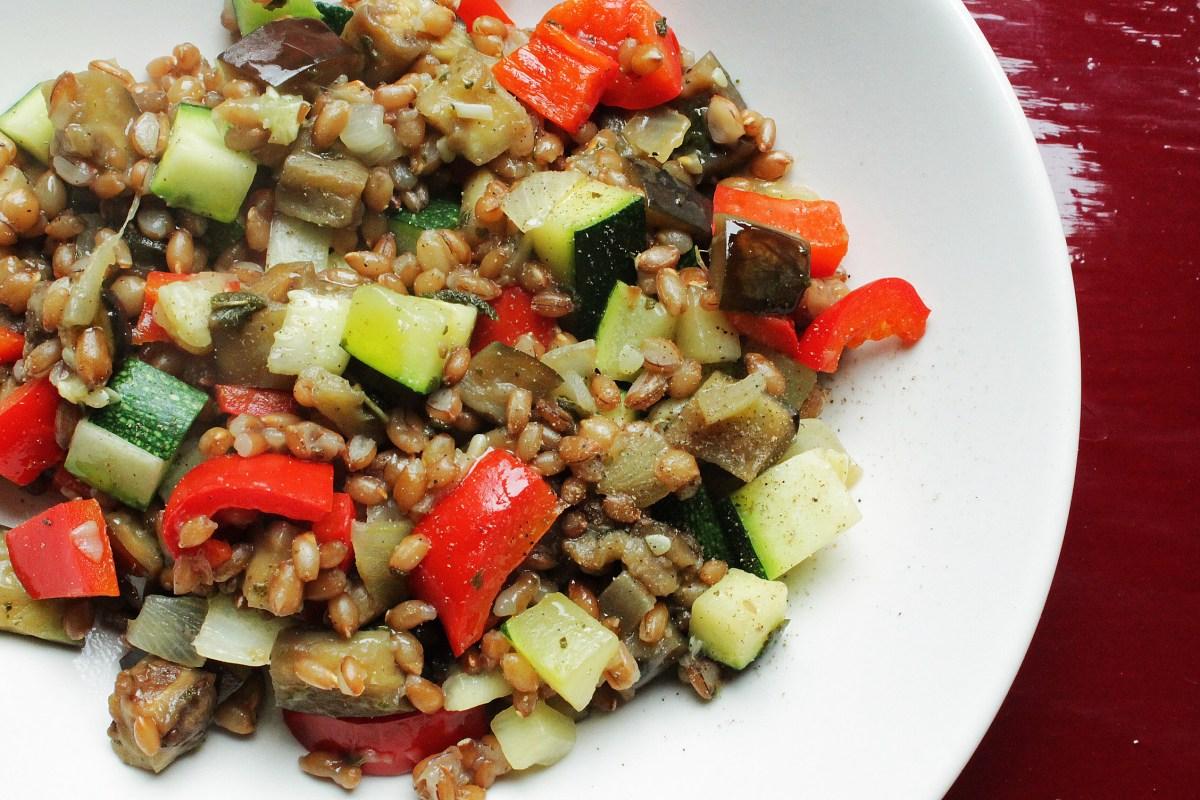 Rogge met groenten en salie