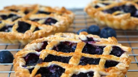 blauwe bessen taartje