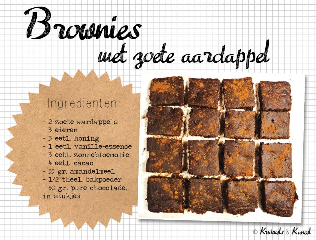 brownies met zoete aardappel