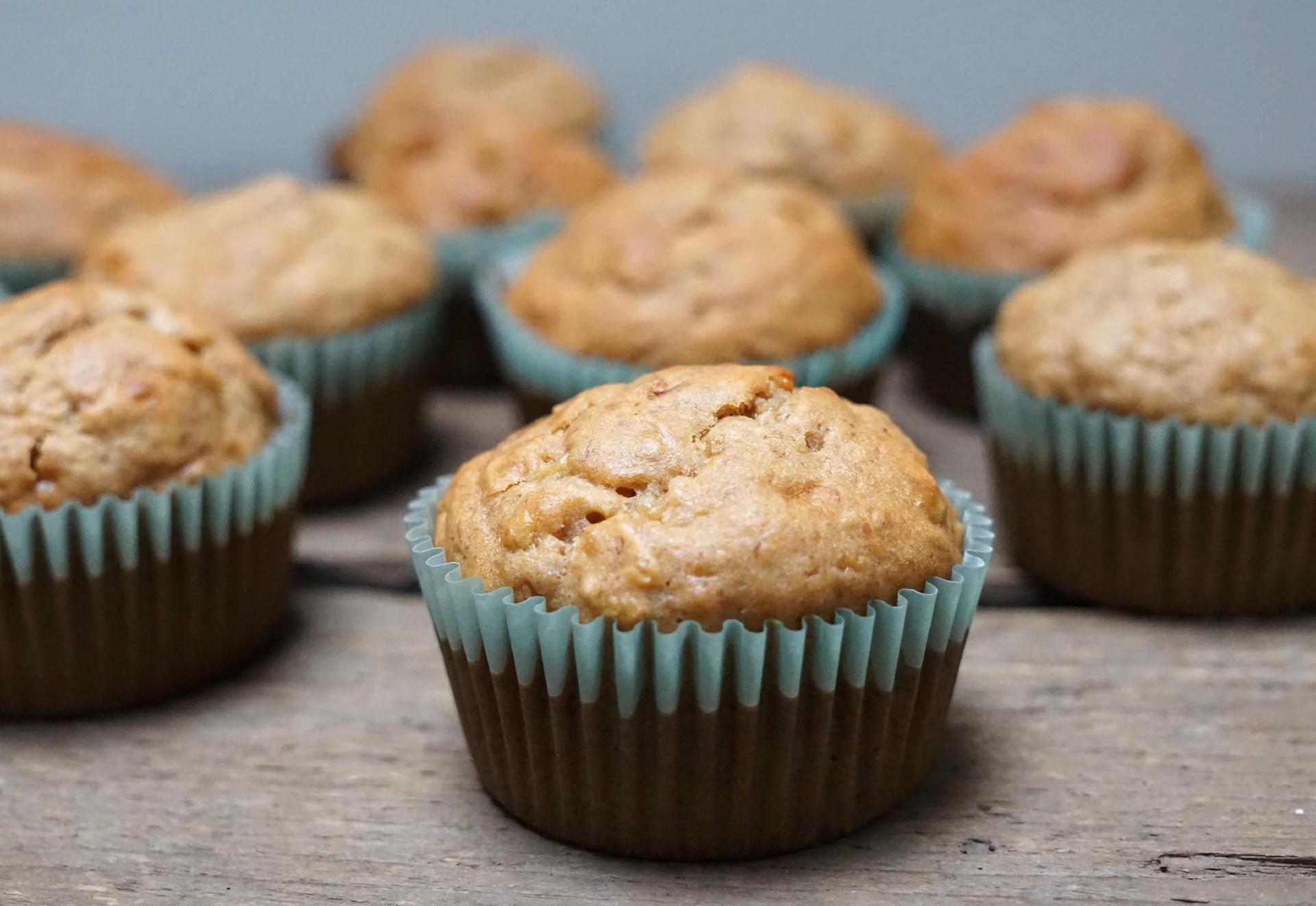 banaan pindakaas muffins 2