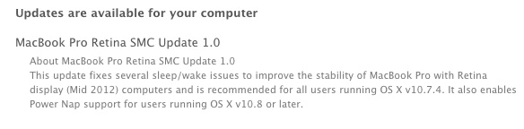 MacBook Pro Retina SMC Update 1.0