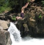 andrew jumping off lower falls