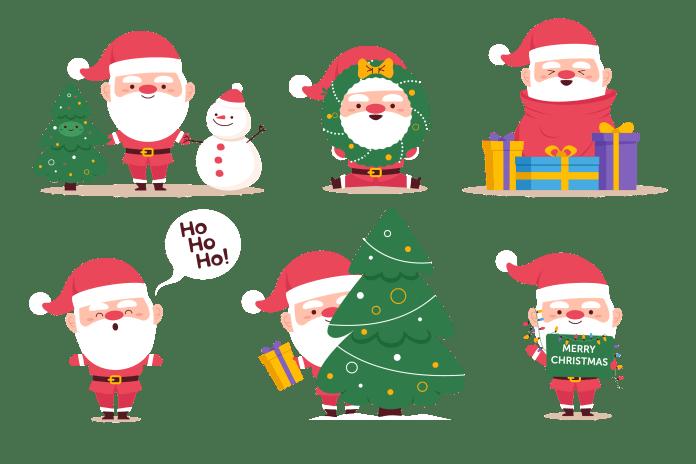 ดาวน์โหลด ตัวการ์ตูน ตกแต่งใบงาน ป้ายนิเทศ วันคริสต์มาส Christmas Day น่ารักมาก