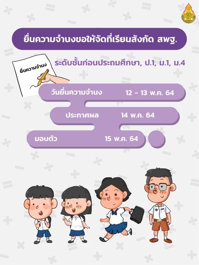 ปฏิทินการรับนักเรียน สังกัด สพฐ. ปีการศึกษา 2564 11
