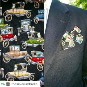 Antique Cars from kruwear antique collection pocketsquare matching bowtie madeinchicagohellip