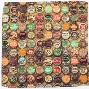 Antique Caps,bottle caps,antique,Pocket Square,Kuwear pocket square,bow tie,Chicago,Kruwear bow ties,