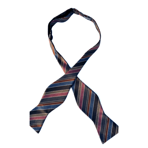 Lux in Tenebris silk self-tie bow tie by Chicago-based Kruwear