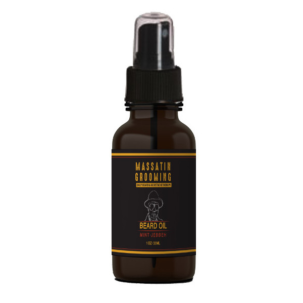 Massatin Grooming best beard oil - Mint Jebbeh is scented with peppermint.